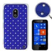 Luxury Bling Diamond Plating Skinning Plastic Case for Nokia Lumia 620 (Blue)