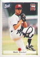 Matt Ruebel Carolina Mudcats - Pirates Affiliate 1995 Best Autographed Hand Signed... by Hall of Fame Memorabilia