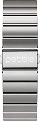 Pebble Technology Corp Smartwatch Replacement Band for Pebble Time Round 20mm - Retail Packaging - Silver