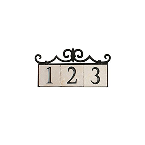 Nach Ka Colonial 3 House Address Number Sign Plaque Home