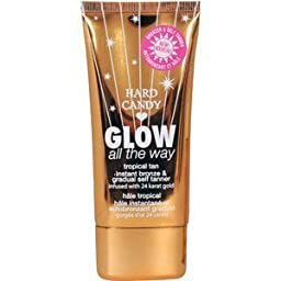 Hard Candy Glow All-The-Way Bronze-Tanner Tropical Tan Instant Bronze & Gradual self tanner (2.7 OZ)