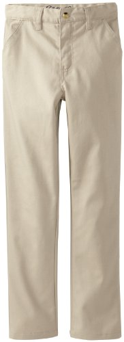 Eddie Bauer Big Boys' Uniform Brushed Twill Straight Leg Pant, Khaki, 14