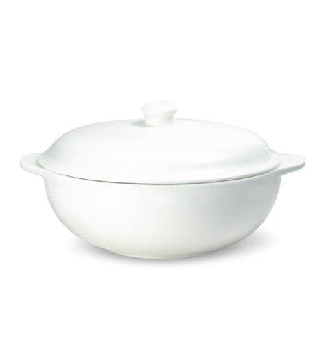 Mikasa Lucerne White Covered Serving Dish - White