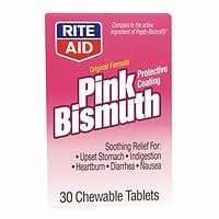 Rite Aid Pink Bismuth Original Formula 30 Ea