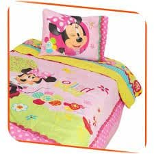 Disney Minnie Mouse Bow-Tique Twin Comforter Set