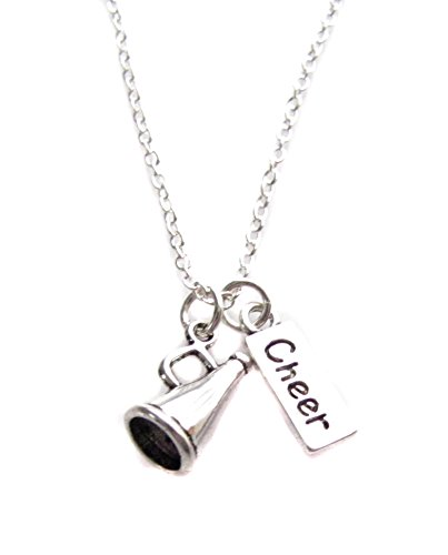 cheerleader-cheer-megaphone-charm-silver-finished-necklace-18-with-1-extender-cheerlearder-cheerlead