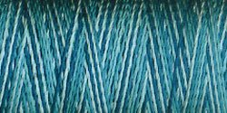 Sulky Rayon Thread 30 Wt Small Spool 180 Yards Varigated Aqua Teals (2132)