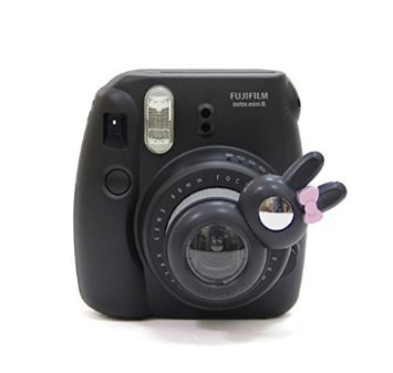 CAIUL Coniglio Stile Close Up Lente Per Fujifilm Instax Mini 8 7s e Polaroid 300 Fotocamera Istantanea (Nero)