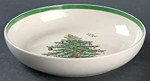 "Spode Christmas Tree-Green Trim 7"" All Purpose (Cereal) Bowl, Fine China Dinnerware"