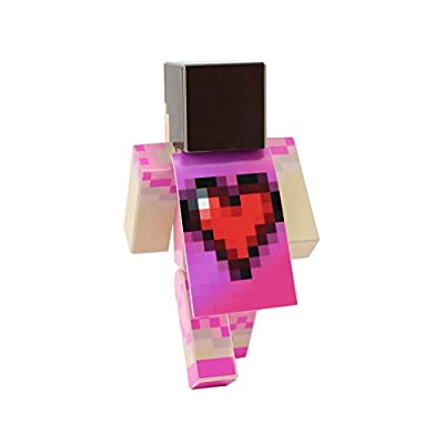"Jen with Dress - 4"" Action Figure Toy, Plastic Craft by EnderToys (Not an official Minecraft product) by Seus Corp Ltd."