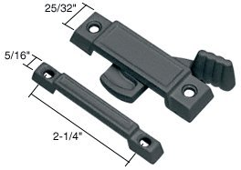 "CRL Black Window Sash Lock With 2-1/4"" Screw Holes - Bulk 20 Pack by CR Laurence"