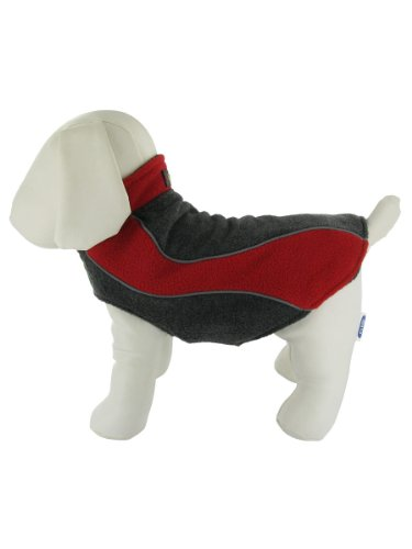 Double Fleece Reflective Winter Dog Coat