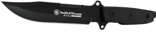Smith And Wesson Cksur4N Homeland Security Fixed Blade Drop Point Fixed Blade Knife With Ballistic Belt Sheath