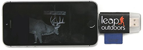 Leap Outdoors Trail or Game Camera Viewer SD Card Reader for Apple iPhone or iPad | Works with Cases | Reads SD, SDHC, and Micro SD Cards (Mini Sd Card 16gb compare prices)