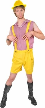 Adult Bruno Yellow Lederhosen Halloween Costume (Size: Standard 44)