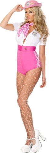 Fever Stop & Search Costume - Pink - Ladies