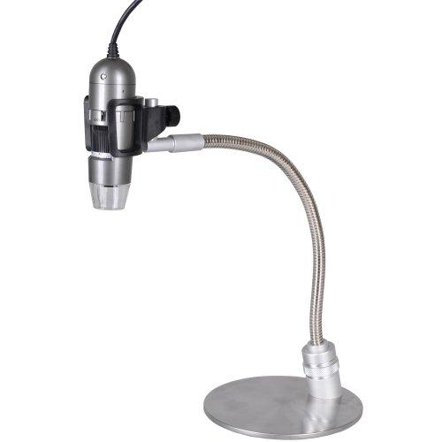 Dino-Lite Am413Ta-Ms33W 1.3Mp 10X-50X, 220X Handheld Digital Microscope + Metal Gooseneck Stand