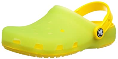Crocs Chameleons Translucent Mule (Toddler/Little Kid),LimeGreen/Yellow,4-5 M US Toddler