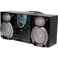 Coby CX-CD400 Mini Hi-Fi System with CD Player, Cassette Deck, and AM/FM Tuner