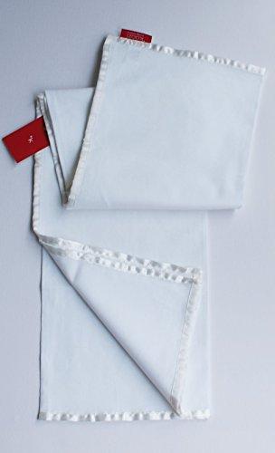 Tischdecke 90 x 90 cm Mitteldecke uni Baumwolle weiß
