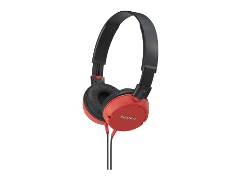 Sony Stereo Headphones Mdr-Zx100 Red | Swivel Holding Overhead (Japan Import)
