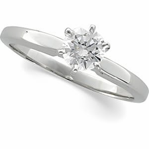 Round Diamond Solitaire Engagement Ring 14ct 0.45 Ct, J , SI2