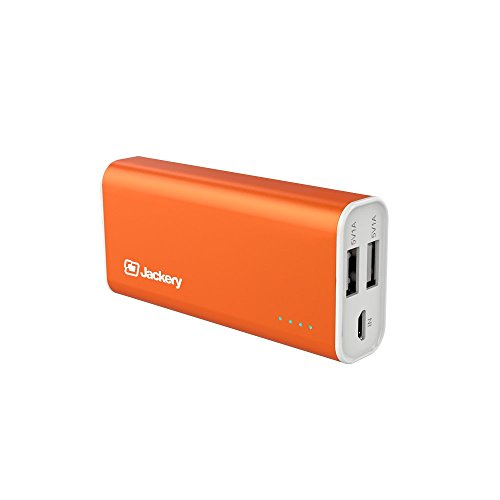 [Travel Charger] Jackery Pop Moveable Charger 5200mAh Exterior Battery Pack – Twin USB Moveable Battery & Go back and forth Chargers for Apple iPhone 6s, 6s Plus, 6, five, iPad Professional, iPad Mini, Samsung Galaxy S6, and S5 (Orange)
