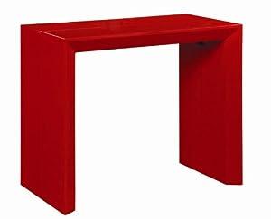Table Console Extensible Extenso Laquée Blanc 10 Couverts
