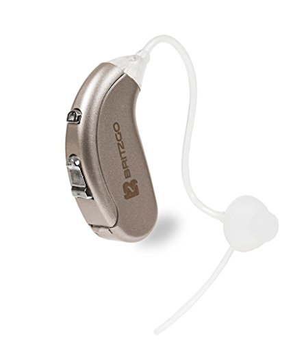 Britzgo Digital Hearing Amplifier BHA-702S, Silver Gray, Back The Ear, Invisible and Efficiency Battery Comsumption