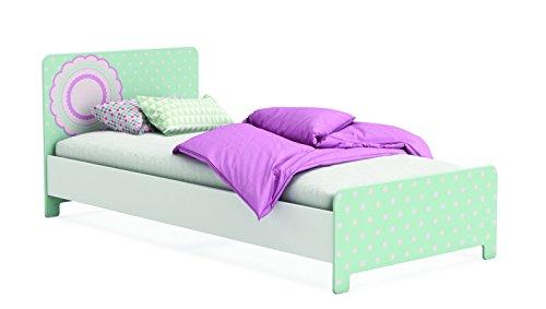 472030 Bett 90 x 200 cm, Suzette, ohne Lattenrost 96 x 80 x 202.8 cm, perle weiß