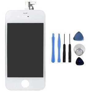Replacement Digitizer And Touch Screen Lcd Assembly For White Apple Iphone 4S (For At&T/Verizon/Sprint Iphone...