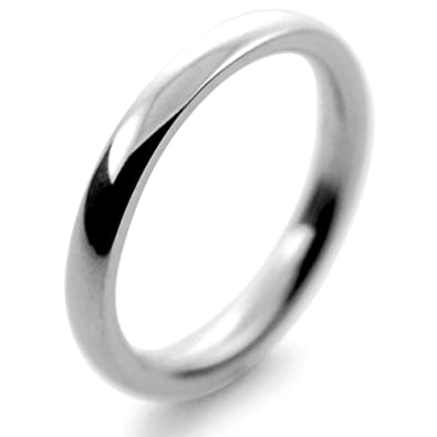 Platinum Wedding Ring Court Very Heavy - 2.5mm