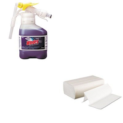 Kitbwk6200Dra3481049 - Value Kit - Windex Super-Concentrated Ammonia-D Glass Cleaner Rtd (Dra3481049) And Boardwalk 6200 Multi-Fold Paper Towels, Bleached (Bwk6200)