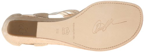 Donald J Pliner Women's Dori Wedge Sandal,Natural Platino Metallic Viper,8.5 M US
