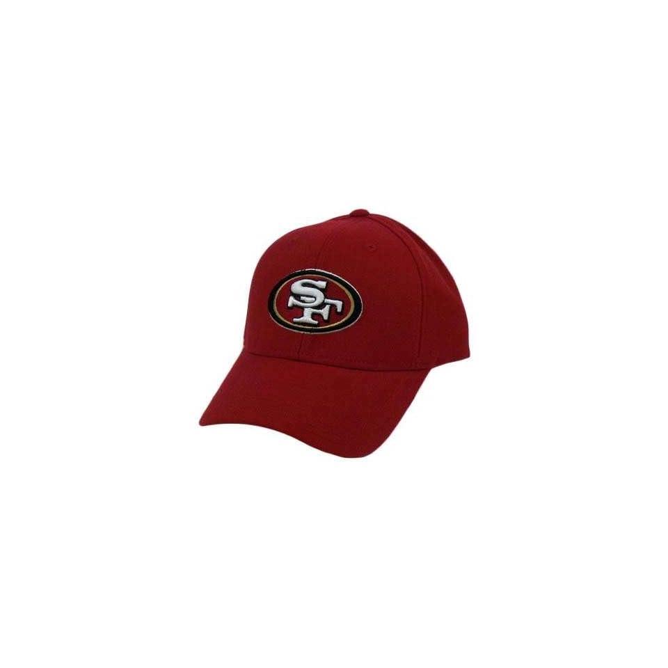 NFL SAN FRANCISCO 49ERS NINER REEBOK RED VELCRO HAT CAP