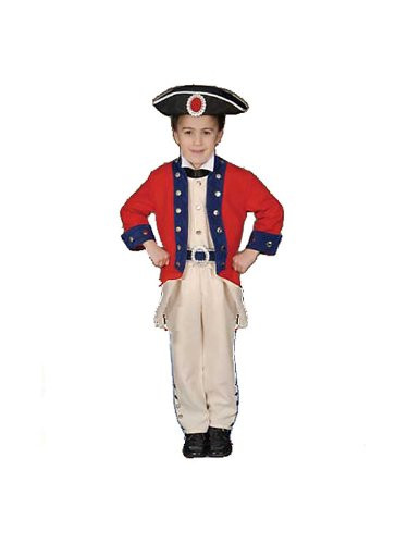 Children's Colonial Soldier Costume Set