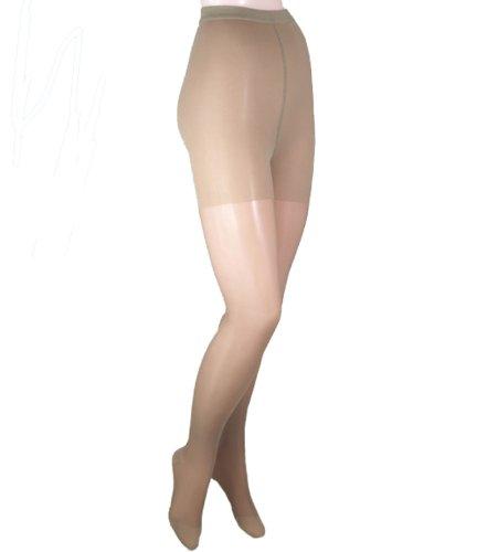 ITA-MED Sheer Pantyhose, Compression (23-30 mmHg) Beige, QueenPlus