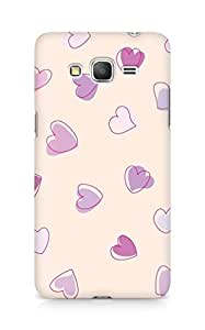Amez designer printed 3d premium high quality back case cover for Samsung Galaxy Grand Prime (Cute Heart Pattern)
