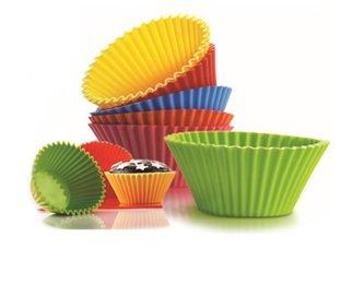Silicone Bakeware Cupcake Muffin Mold 12 Pcs/Set