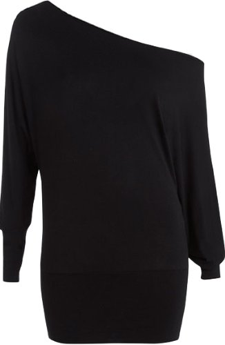 New Ladies Off Shoulder Batwing Long Sleeved