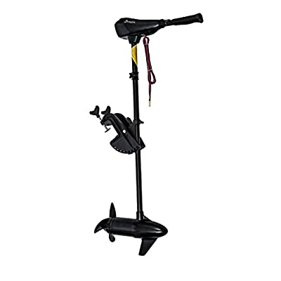 Outsunny 12V Transom Mounted 50-Pound Thrust Electric Fishing Boat Trolling Motor