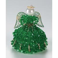 Birthstone Angel Ornament Bead Kit - May Emerald