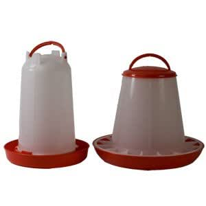 Wells Poultry Equipment - 3 kg eco Plastic feeder 3 litre eco plastic drinker set