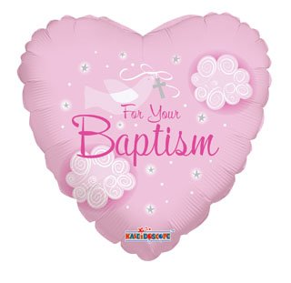 "18"""" Sl Girl Baptism Dove Balloon - 1"