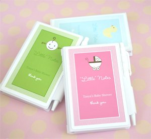 """Personalized """"Little Notes"""" Notebook Favors - Baby Shower Gifts & Wedding Favors Set Of 24"""