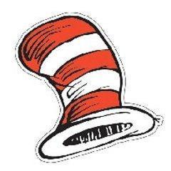 DR SEUSS THE CATS HAT CUT-OUTS