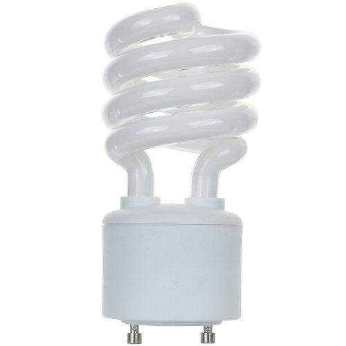 Sunlite SL18/E/GU24/27K 18 Watt Spiral Energy Star Certified CFL Light Bulb GU24 Base Warm White