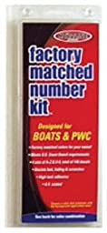 Hardline Products Series 350 Factory Matched 3-Inch Boat & PWC Registration Number Kit, Solid Black