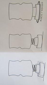 klemmstange gardinenstange scheibengardinenstange edelstahl matt gr e 39 dc911. Black Bedroom Furniture Sets. Home Design Ideas