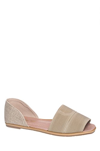 Huggable Peep Toe Flat